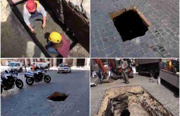 USRED RIMA SE OTVORILA RUPA: Kada su istraživači pogledali unutra, otkrili su nešto što je tu stajalo od antičkih vremena…