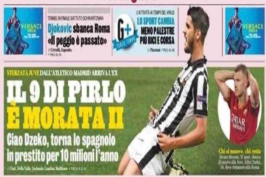 """""""CIAO, DZEKO…"""": Naslovnica uglednog italijanskog lista otklonila sve dileme u vezi s Džekinim transferom…"""
