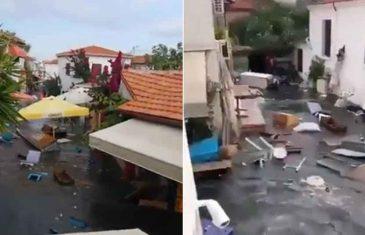 IZ IZMIRA STIŽU SLIKE PORUŠENIH ZGRADA! MORE POPLAVILO ULICE: Nakon snažnog zemljotresa u toku POTRAGA ZA NESTALIMA